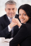Woman on interview. Stock Photography