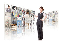 Woman introduce Stock Images