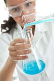 Woman involved in chemical research Royalty Free Stock Photography