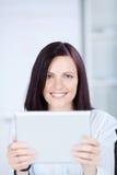 Woman with ipad Stock Photo