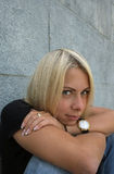 Woman With Ironic Gaze Stock Image