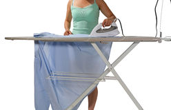 Woman Ironing Royalty Free Stock Photography