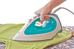 Woman ironing Stock Image