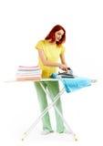Woman ironing stock photos