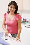 Woman Ironing Royalty Free Stock Images
