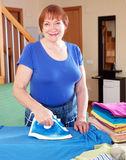 Woman ironing Stock Photos
