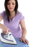 Woman ironing Stock Photo