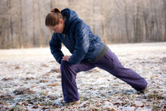 Woman Is Exercising Royalty Free Stock Images