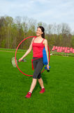 Woman Is Going To Take Exercises, Sport Theme Stock Photo