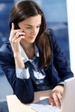 Woman Is Making A Call. Stock Photography