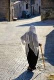 Islamic woman. Walking with veil in Capaddocia street Royalty Free Stock Image