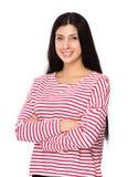 Woman. Isolated on white background Stock Image
