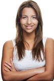 Woman isolated on white Stock Photos