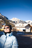 Woman in Italian Alps Stock Image
