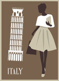 Woman in Italy. Royalty Free Stock Images