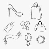 Woman items collection Stock Image