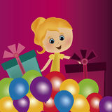 Woman in its birthday Stock Image