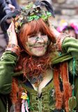 A woman at Jack In The Green Festival Stock Image