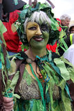 A woman at Jack In The Green Festival Royalty Free Stock Images