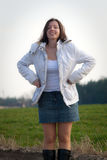 Woman in jacket Stock Photography