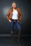 Woman in jacket Royalty Free Stock Photo