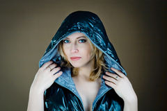 Woman in jacket royalty free stock photography