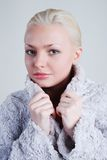 Woman in a jacket Stock Image