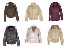 Woman jackets Royalty Free Stock Images