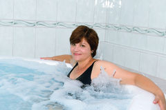 Woman in a jacuzzi Royalty Free Stock Photo