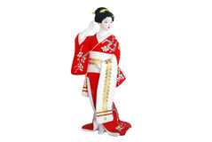 Woman in japan clothing Royalty Free Stock Image
