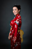 Woman japan kimono stock photo