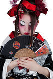 Woman in a japanese kimono Stock Images