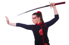 Woman in japanese martial Stock Photography