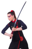 Woman in japanese martial Stock Photo