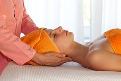 Woman Javing Spa Treatment Stock Photos