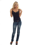 Woman in jeans Royalty Free Stock Photography