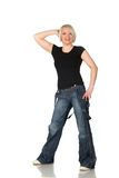 Woman in jeans Royalty Free Stock Photos