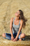 Woman in jeans Royalty Free Stock Photo