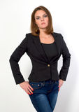 Woman in jeans. Royalty Free Stock Image