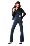 Woman in jeans Stock Image