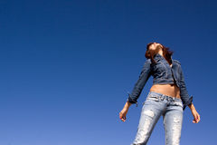 Woman in jeans Stock Photos