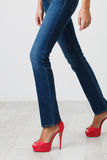 Woman in jeans Royalty Free Stock Images