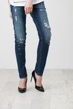 Woman in jeans Stock Photography