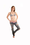 Woman in jeans and bra. Royalty Free Stock Images