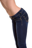 Woman in jeans. Royalty Free Stock Photo