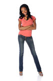 Woman in Jeans and High Heels Royalty Free Stock Photo
