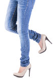 Female leg in shoes Stock Photography
