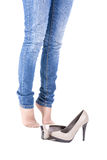 Female leg in shoes Royalty Free Stock Photos