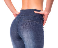 Woman with jeans Stock Photography