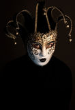 Woman with Jester mask Stock Photography